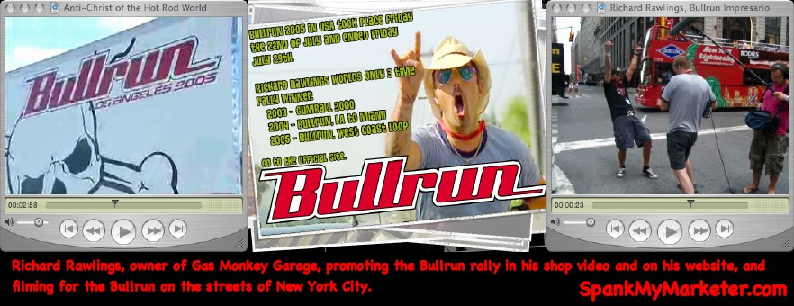 car rally. (For more information on the Bullrun, see: The Bullrun