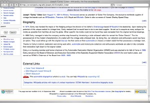 Corky Coker Wikipedia article