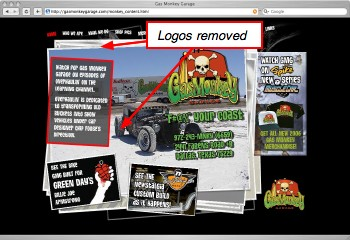 Discovery Channel logo removed from GasMonkeyGarage.com