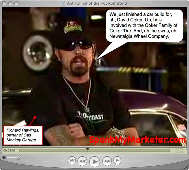 The screen captures below are from the original Gas Monkey Garage