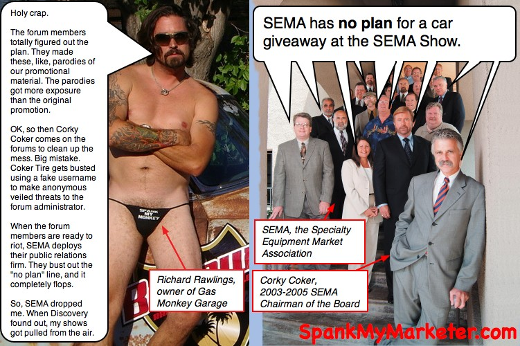 parody comics of SEMA or Richard Rawlings, check out The SpankMaker