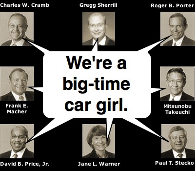 We're a big-time car girl.